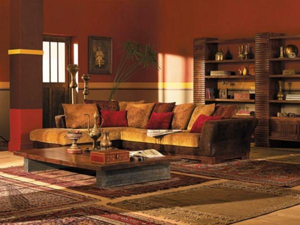 meubles-indiens-salle-de-séjour-touche-traditionnelle