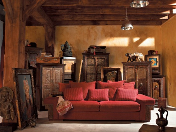 meubles-indiens-un-lit-rouge