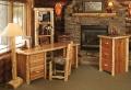 Les meubles rustiques traditionnels créent une ambiance chaleureuse et cosy