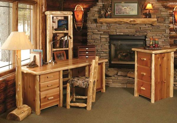 Les meubles rustiques traditionnels créent une ambiance