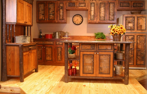 Les meubles rustiques traditionnels cr ent une ambiance for Meuble de cuisine rustique