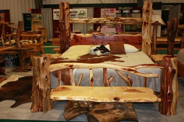 Les meubles rustiques traditionnels cr ent une ambiance for Meuble en bois flotte