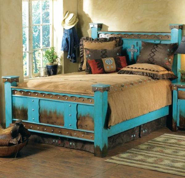 Les meubles rustiques traditionnels cr ent une ambiance for Meuble bois peint