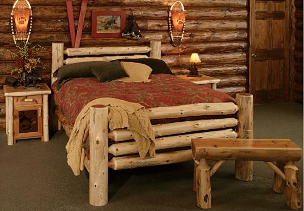meubles-rustiques-lit-en-bois