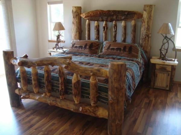 Les meubles rustiques traditionnels cr ent une ambiance chaleureuse et cosy - Chambre en bois flotte 2 ...