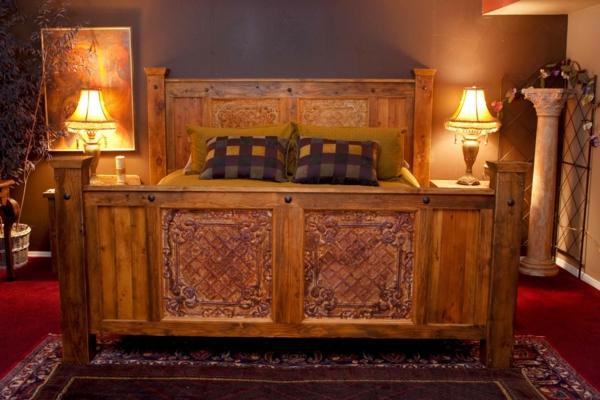 meubles-rustiques-petite-chambre-à-coucher-de-style-rustique
