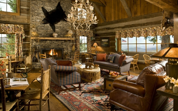 Les meubles rustiques traditionnels cr ent une ambiance - Maison rustique yellowstone traditions ...