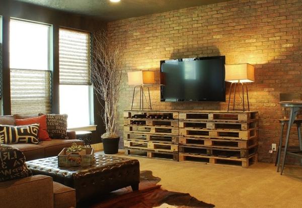 meubles-rustiques-un-meuble-à-palettes