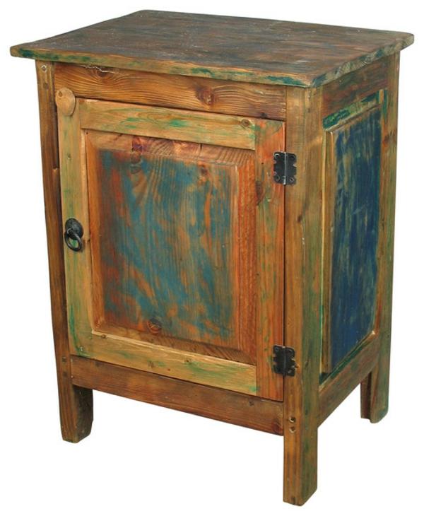 meubles-rustiques-un-rack-en-bleu-et-brun
