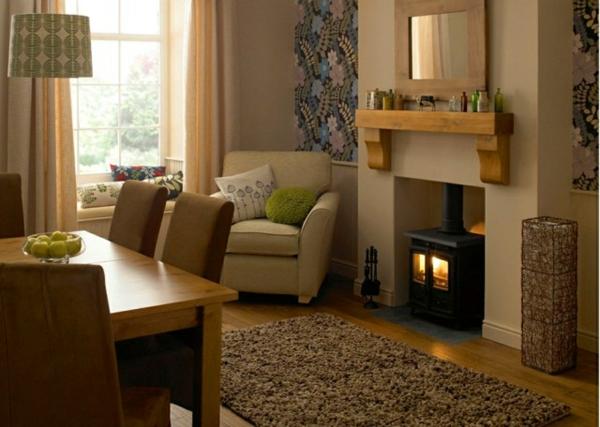meubles-rustiques-une-chambre-avec-cheminée