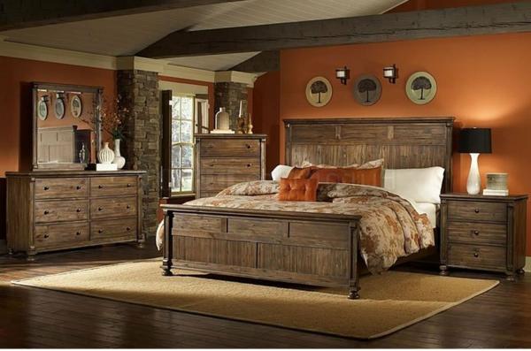 meubles-rustiques-une-grande-chambre-à-coucher