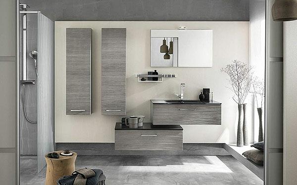 Le meuble colonne de salle de bain for Salle de bain grise et bois