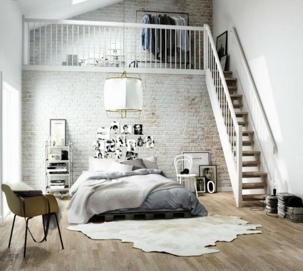 meubles-scandinaves-design-unique-chambre-couche-moderne-tapis-chaises-métal-plastique-