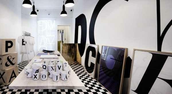 moderne-design-d'intérieur-lettre-thème