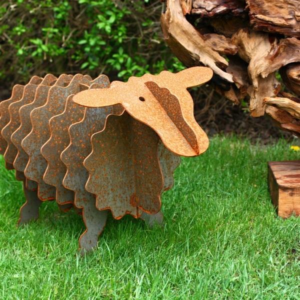 mouton-rouille-decoration-jardin
