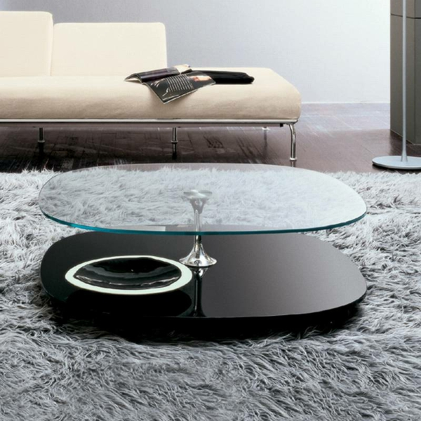 grande table de salon en verre. Black Bedroom Furniture Sets. Home Design Ideas