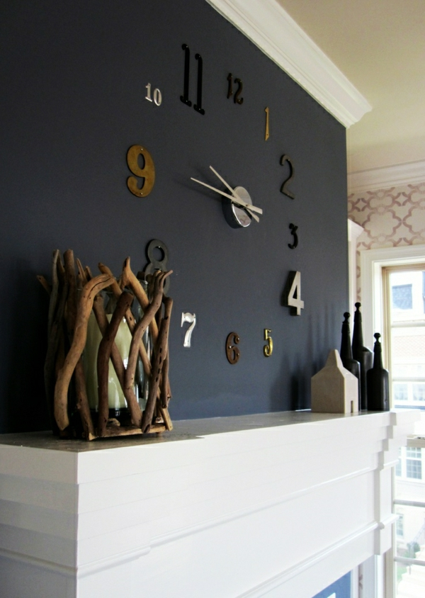 Le horloge design murale moderne for Decoration murale a coller