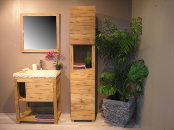 Le meuble colonne de salle de bain for Colonne salle de bain bois