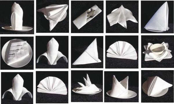 origami-serviette-examples-d'origami-serviettes