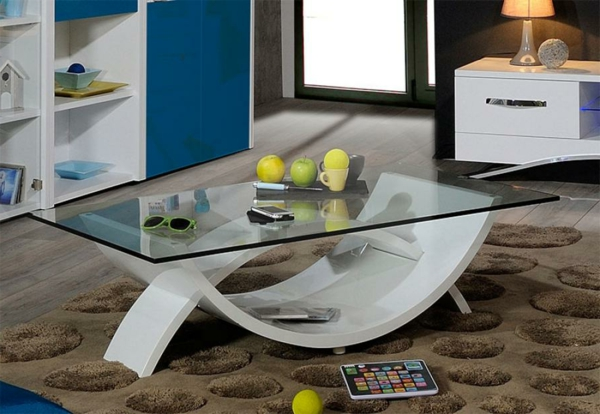 la table de salon en verre. Black Bedroom Furniture Sets. Home Design Ideas