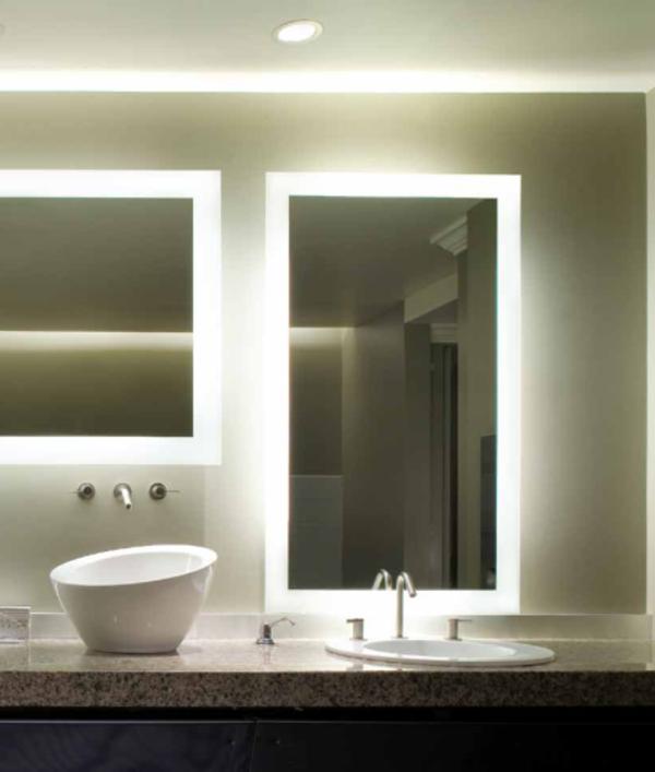 Eclairage Salle De Bain Au Dessus Miroir : Eclairage salle de bain au dessus miroir : de miroir pour la salle de …