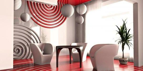 paneaux-decoratifs-muraux-cercles-rouges