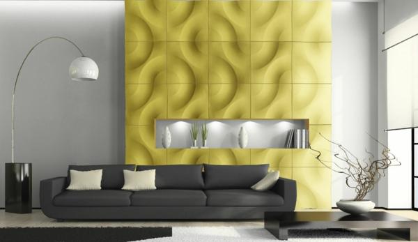 panneaux-décoratifs-muraux-jaune