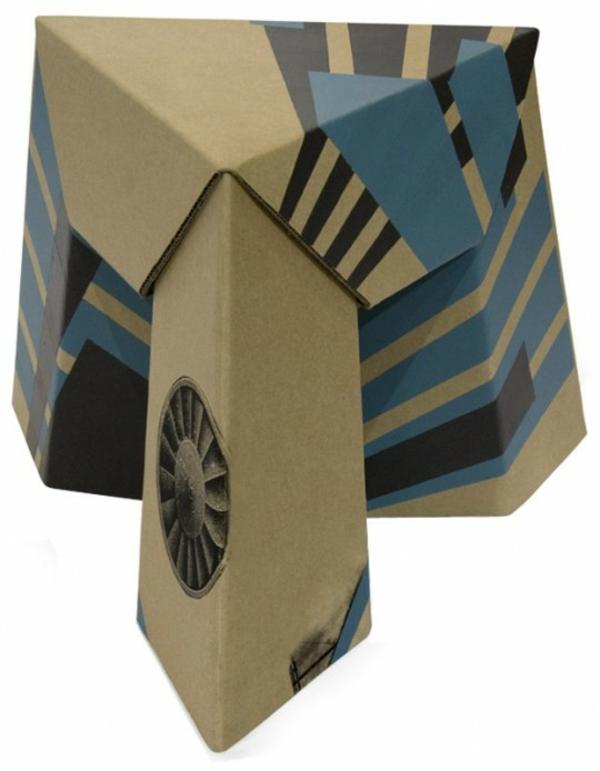 papier-tabouret-bleu-