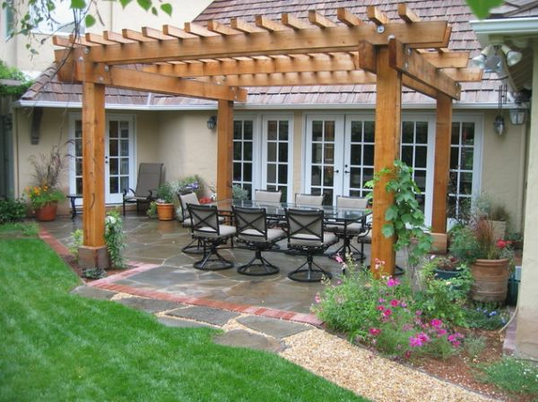 pargola-bois-idee-salon-jardin