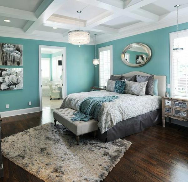 Le tapis de sol pour la chambre coucher - Chambre style nordique ...