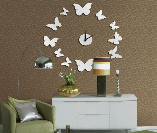 pendule-murale-design-papillons