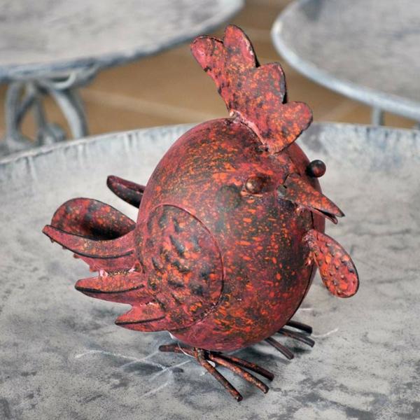 kinderzimmers boule metalique rouille pour decoration jardin. Black Bedroom Furniture Sets. Home Design Ideas