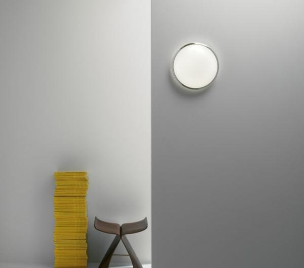 plafonnier-de -salle-de-bain- chromé-design-gris