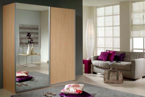 porte-de-dressing-coulissante-bois-claire-et-miroir