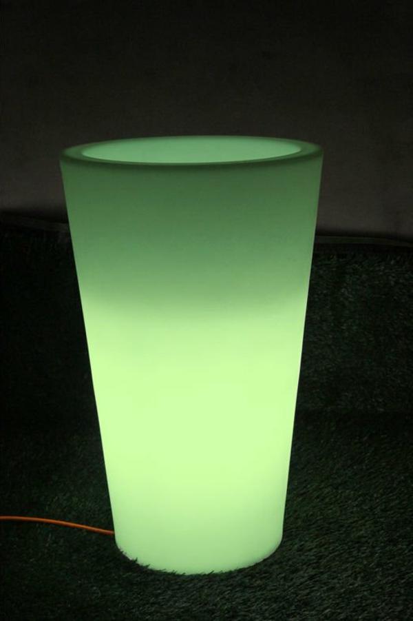 pot-de-fleur-lumineux-lumière-verte