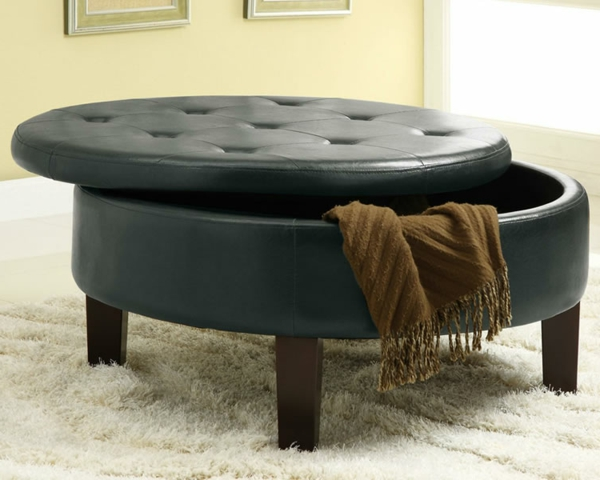 le pouf avec rangement. Black Bedroom Furniture Sets. Home Design Ideas