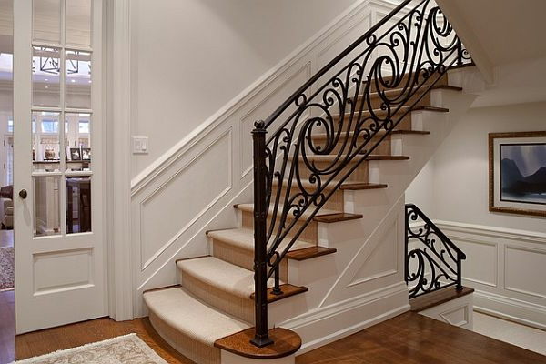 rambarde-fer-forge-noir-escalier-tableau