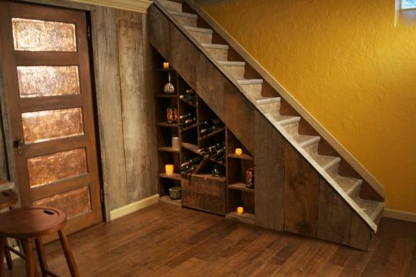 Le rangement bouteilles de vin concepts modernes - Cave a vin sous escalier ...