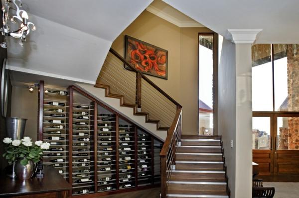 rangement-bouteilles-de-vin-dans-un-intérieur-contemporain