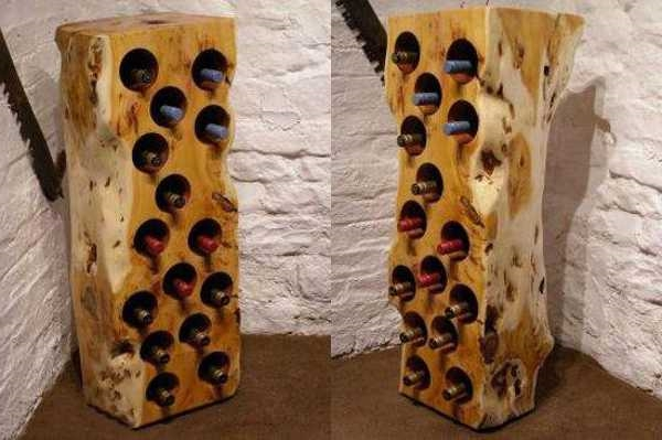 Le rangement bouteilles de vin concepts modernes - Rangement buche de bois interieur ...