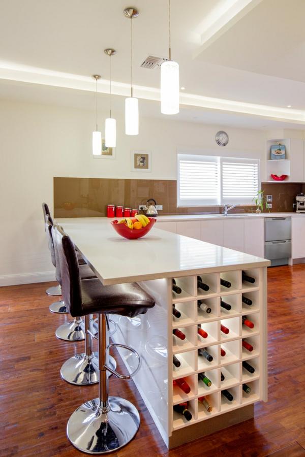 Le rangement bouteilles de vin concepts modernes - Table haute rangement ...