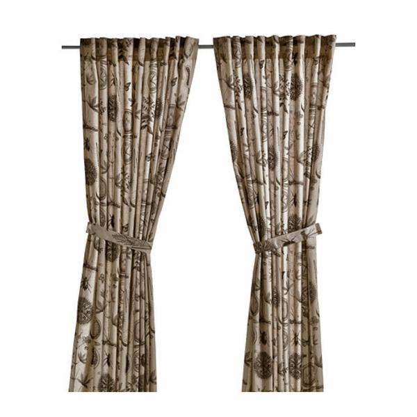 rideaux-ikea-blavinge-beige-brun-La ramie est un matériau naturel qui donne aux rideaux une texture légèrement irrégulière et filtre la lumière en douceur
