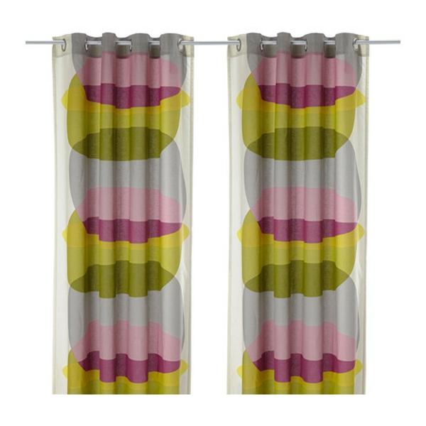 rideaux-ikea-malin-figur-multicolore-Le lin donne au tissu son aspect naturel, irrégulier et épais