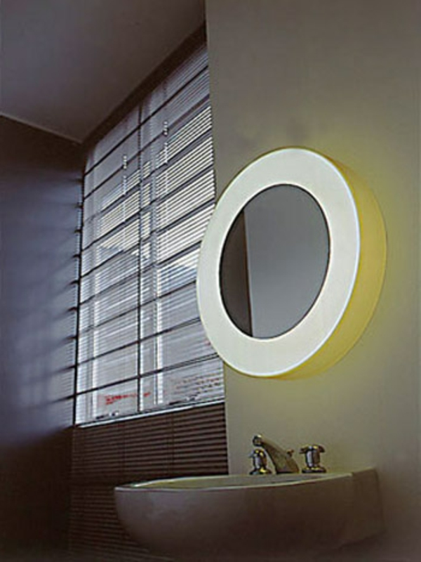 rond-jaune-éclairage-pour-la-salle-de-bain