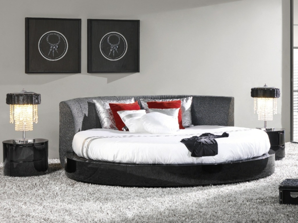 awesome with chambre a coucher avec lit rond. Black Bedroom Furniture Sets. Home Design Ideas