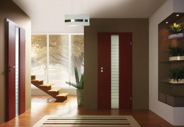 rouge-portes-d'intérieures- design