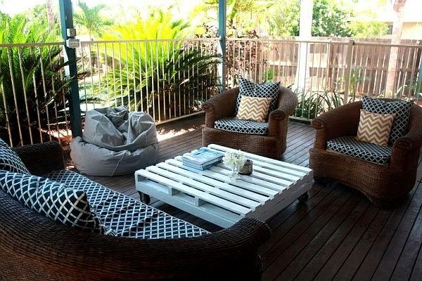 Le salon de jardin en palette - bricolez vos meubles patio incroyables ...