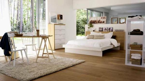 Le tapis de sol pour la chambre coucher - Chambre style scandinave ...