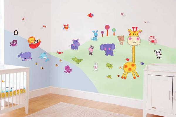Avec les stickers pour chambre b b vous allez cr er une ambiance jolie et amusante pour votre - Sticker pour chambre bebe ...