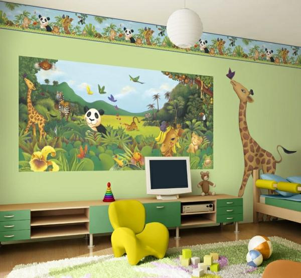 stickers-pour-chambre-bébé-jungle